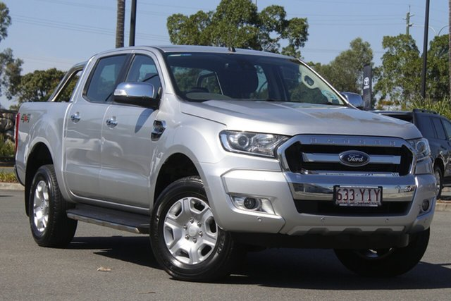 Used Ford Ranger PX MkII 2018.00MY XLT Double Cab North Lakes, 2018 Ford Ranger PX MkII 2018.00MY XLT Double Cab Silver 6 Speed Sports Automatic Utility