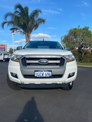 2016 Ford Ranger PX MkII XLS Double Cab Cool White 6 Speed Sports Automatic Utility.