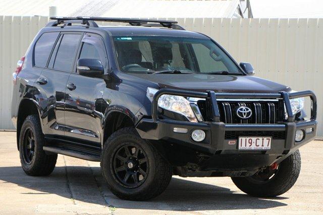 Used Toyota Landcruiser Prado KDJ150R MY14 GXL Bundamba, 2014 Toyota Landcruiser Prado KDJ150R MY14 GXL Dark Blue 5 Speed Sports Automatic Wagon