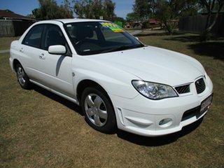 2007 Subaru Impreza S MY07 RS AWD White 4 Speed Automatic Sedan.