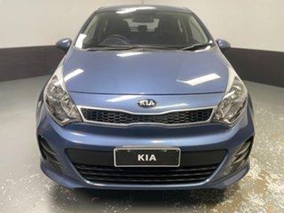 2015 Kia Rio UB MY16 S Urban Blue 6 Speed Manual Hatchback.