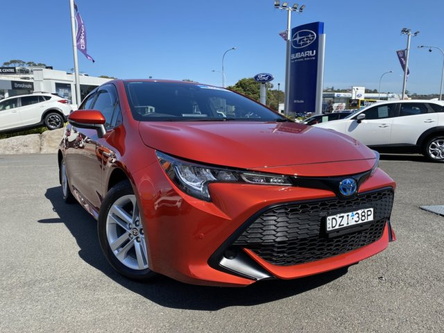 Pre-Owned Toyota Corolla ZWE211R Ascent Sport E-CVT Hybrid Brookvale, 2018 Toyota Corolla ZWE211R Ascent Sport E-CVT Hybrid Orange 10 Speed Constant Variable Hatchback