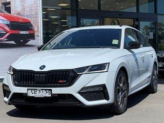 2021 Skoda Octavia NX MY21 RS DSG White 7 Speed Sports Automatic Dual Clutch Wagon.