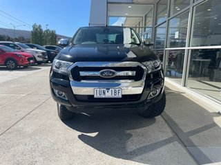 2017 Ford Ranger PX MkII XLT Double Cab Black 6 Speed Manual Utility.
