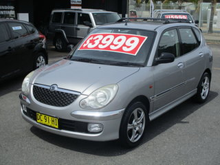 2002 Daihatsu Sirion M101 GTVi Grey 5 Speed Manual Hatchback.