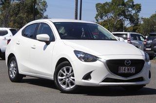 2016 Mazda 2 DL2SA6 Maxx SKYACTIV-MT White 6 Speed Manual Sedan.