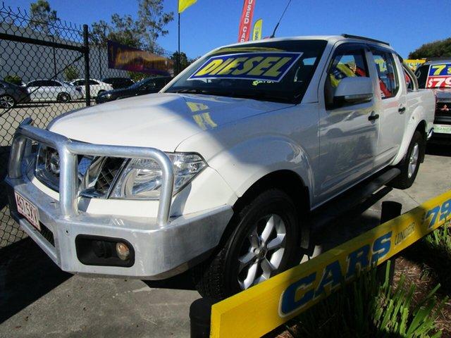 Used Nissan Navara D40 S6 MY12 ST Springwood, 2013 Nissan Navara D40 S6 MY12 ST White 6 Speed Manual Utility