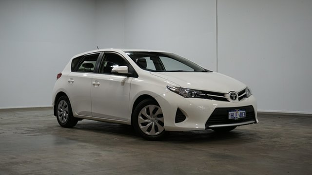 Used Toyota Corolla ZRE182R Ascent S-CVT Welshpool, 2013 Toyota Corolla ZRE182R Ascent S-CVT Glacier White 7 Speed Constant Variable Hatchback