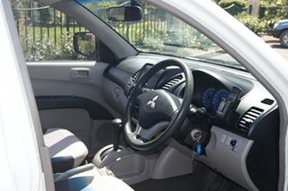 2008 Mitsubishi Triton ML MY09 GLX White 4 Speed Automatic Cab Chassis