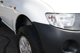 2008 Mitsubishi Triton ML MY09 GLX White 4 Speed Automatic Cab Chassis.