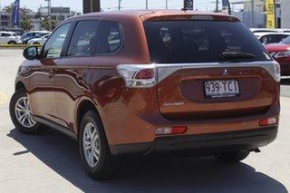 2012 Mitsubishi Outlander ZJ MY13 LS 2WD Orange Brown 6 Speed Constant Variable Wagon.