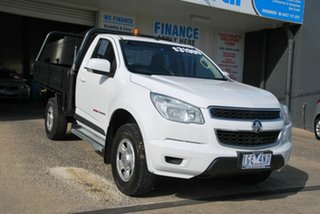 2015 Holden Colorado RG MY16 LS (4x4) White 6 Speed Automatic Cab Chassis