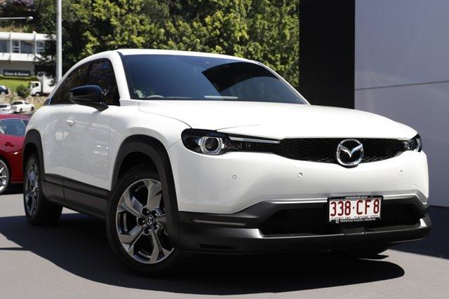 Demo Mazda MX-30 DR2W7A G20e SKYACTIV-Drive Astina Newstead, 2021 Mazda MX-30 DR2W7A G20e SKYACTIV-Drive Astina Arctic White 6 Speed Sports Automatic Wagon