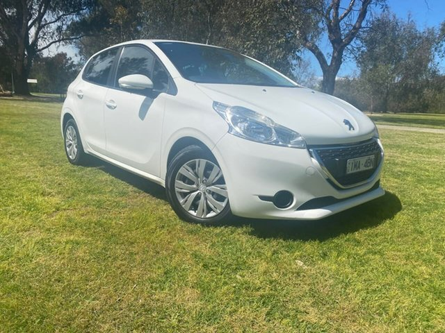 Used Peugeot 208 A9 Active Wodonga, 2012 Peugeot 208 A9 Active White 5 Speed Manual Hatchback