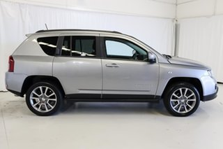 2016 Jeep Compass MK MY16 Limited CVT Auto Stick Silver 6 Speed Constant Variable Wagon.
