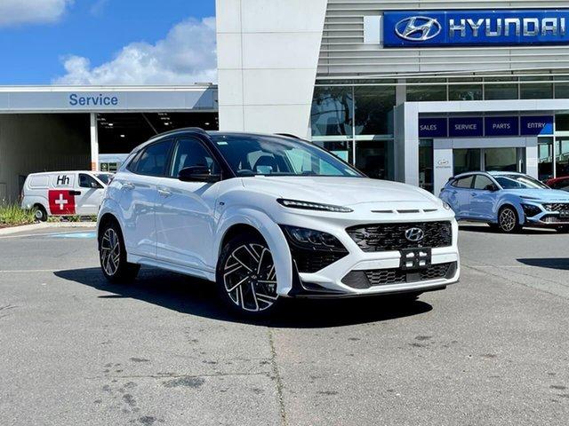 New Hyundai Kona Os.v4 MY21 N-Line D-CT AWD Premium South Melbourne, 2021 Hyundai Kona Os.v4 MY21 N-Line D-CT AWD Premium Sw1 7 Speed Sports Automatic Dual Clutch Wagon