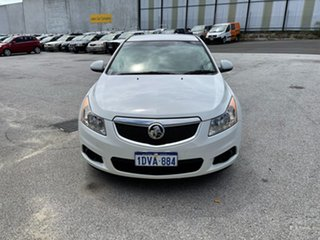 2012 Holden Cruze JH MY12 CD White 6 Speed Automatic Sedan.