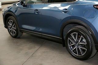 2017 Mazda CX-5 KF4WLA Touring SKYACTIV-Drive i-ACTIV AWD Blue 6 Speed Sports Automatic Wagon