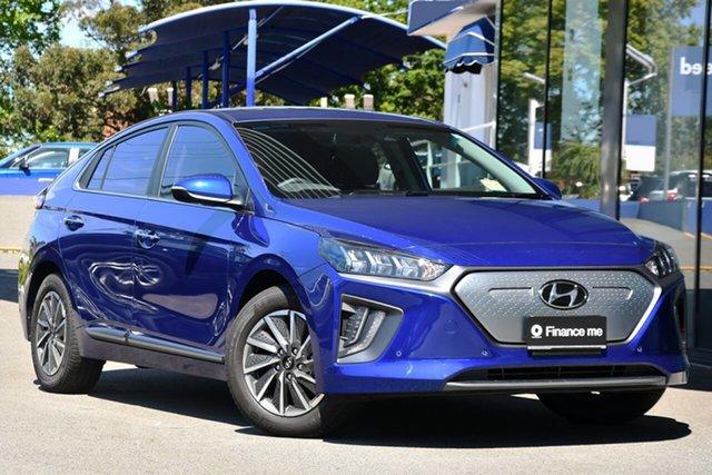 New Hyundai Ioniq AE.V4 MY21 electric Premium Victoria Park, 2021 Hyundai Ioniq AE.V4 MY21 electric Premium Intense Blue 1 Speed Reduction Gear Fastback