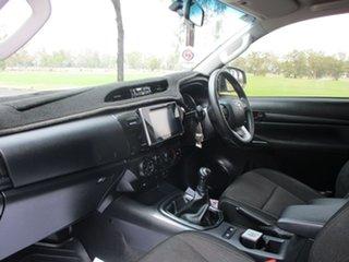 2017 Toyota Hilux GUN126R MY17 SR (4x4) Glacier White 6 Speed Manual Dual Cab Chassis