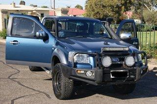 2007 Ford Ranger PJ XLT (4x4) Blue 5 Speed Automatic Super Cab Utility