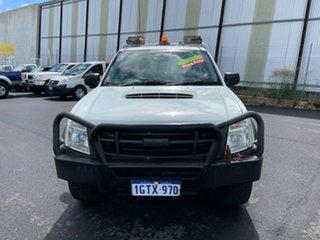 2010 Isuzu D-MAX TF MY10 SX (4x4) White 5 Speed Manual Cab Chassis.