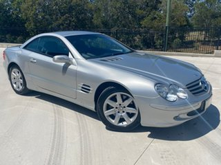 2004 Mercedes-Benz SL-Class R230 MY04 SL500 Silver 7 Speed Sports Automatic Roadster.