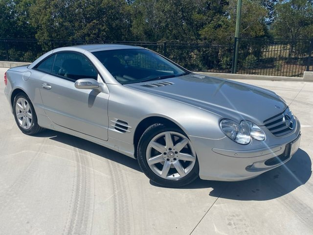 Used Mercedes-Benz SL-Class R230 MY04 SL500 Cooroy, 2004 Mercedes-Benz SL-Class R230 MY04 SL500 Silver 7 Speed Sports Automatic Roadster