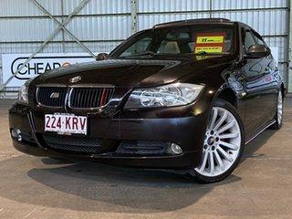 2007 BMW 3 Series E90 320d Steptronic Black 6 Speed Sports Automatic Sedan.