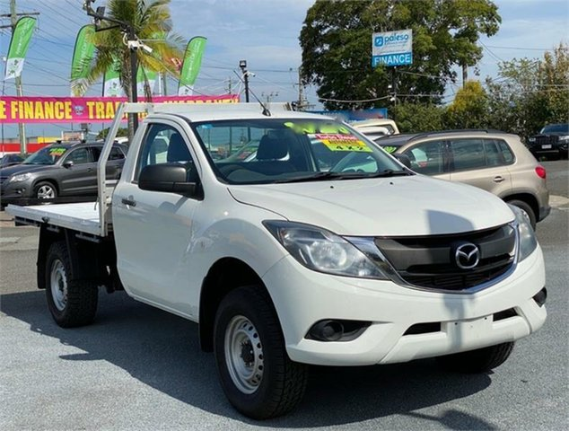 Used Mazda BT-50 UR0YD1 XT Hi-Rider Archerfield, 2016 Mazda BT-50 UR0YD1 XT Hi-Rider White 6 Speed Sports Automatic Cab Chassis