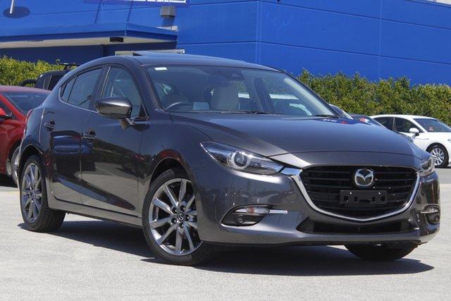 Used Mazda 3 BN5438 SP25 SKYACTIV-Drive Astina Aspley, 2017 Mazda 3 BN5438 SP25 SKYACTIV-Drive Astina Grey 6 Speed Sports Automatic Hatchback