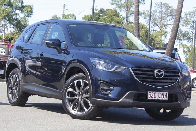 Used Mazda CX-5 KE1032 Grand Touring SKYACTIV-Drive AWD North Lakes, 2016 Mazda CX-5 KE1032 Grand Touring SKYACTIV-Drive AWD Blue 6 Speed Sports Automatic Wagon