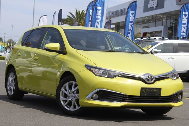 Used Toyota Corolla ZRE182R Ascent Sport S-CVT Aspley, 2018 Toyota Corolla ZRE182R Ascent Sport S-CVT Yellow 7 Speed Constant Variable Hatchback