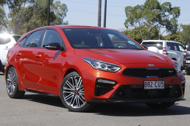 Used Kia Cerato BD MY19 GT DCT North Lakes, 2019 Kia Cerato BD MY19 GT DCT Orange 7 Speed Sports Automatic Dual Clutch Hatchback