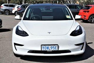 2021 Tesla Model 3 MY21 Standard Range Plus White 1 Speed Reduction Gear Sedan.