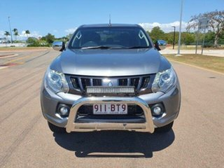 2018 Mitsubishi Triton MQ MY18 GLS Double Cab Silver 5 Speed Sports Automatic Utility.