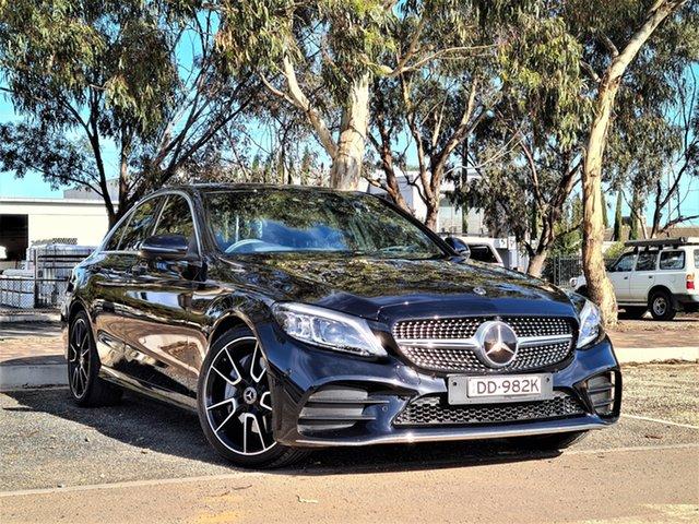 Used Mercedes-Benz C-Class W205 808MY C300 9G-Tronic St Marys, 2018 Mercedes-Benz C-Class W205 808MY C300 9G-Tronic Black 9 Speed Sports Automatic Sedan
