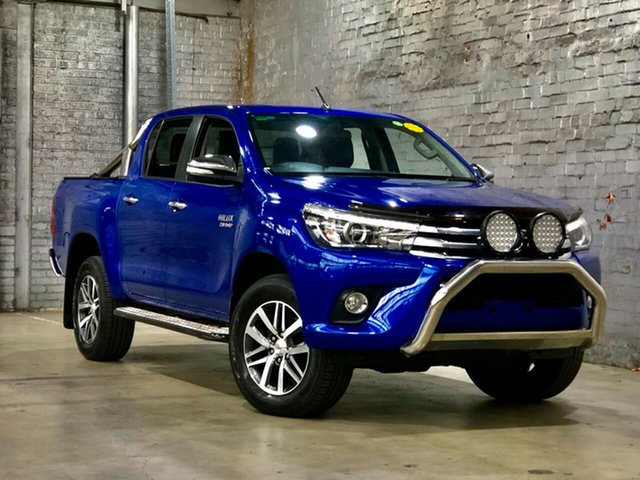 Used Toyota Hilux GUN126R SR5 Double Cab Mile End South, 2016 Toyota Hilux GUN126R SR5 Double Cab Blue 6 Speed Sports Automatic Utility