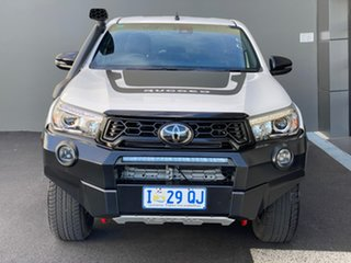 2019 Toyota Hilux GUN126R Rugged X Double Cab White 6 Speed Sports Automatic Utility.