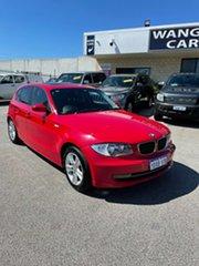2008 BMW 118i E87 MY07 Upgrade Red 6 Speed Manual Hatchback.