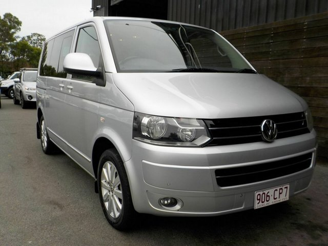 Used Volkswagen Multivan T5 MY13 TDI400 DSG Highline Labrador, 2013 Volkswagen Multivan T5 MY13 TDI400 DSG Highline Silver 7 Speed Sports Automatic Dual Clutch