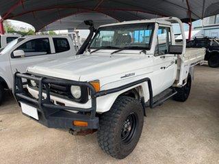 1996 Toyota Landcruiser HZJ75RP (4x4) White 5 Speed Manual 4x4 Cab Chassis.