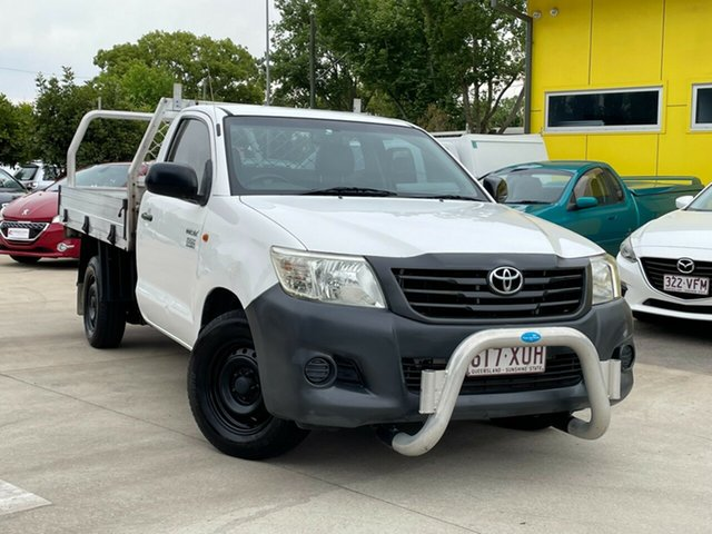 Used Toyota Hilux TGN16R MY12 Workmate Double Cab 4x2 Toowoomba, 2012 Toyota Hilux TGN16R MY12 Workmate Double Cab 4x2 White 4 Speed Automatic Utility