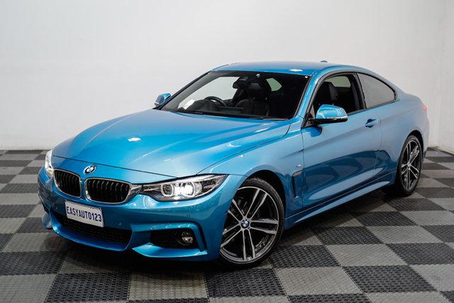 Used BMW 4 Series F32 LCI 420i M Sport Edgewater, 2017 BMW 4 Series F32 LCI 420i M Sport Blue 8 Speed Sports Automatic Coupe