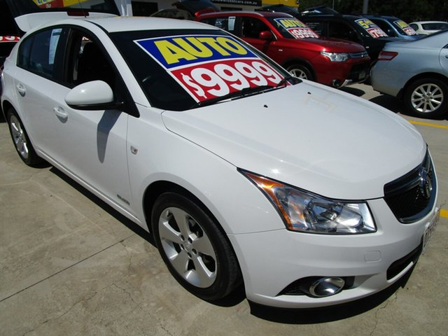 Used Holden Cruze JH Series II MY14 Equipe Springwood, 2013 Holden Cruze JH Series II MY14 Equipe White 6 Speed Sports Automatic Hatchback