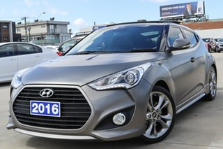 2016 Hyundai Veloster FS4 Series II SR Coupe D-CT Turbo Grey 7 Speed Sports Automatic Dual Clutch.