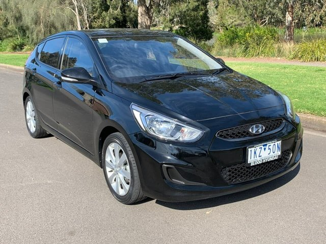 Used Hyundai Accent RB5 Sport Geelong, 2017 Hyundai Accent RB5 Sport Black 6 Speed Sports Automatic Hatchback