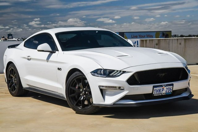 Used Ford Mustang FN 2019MY GT Osborne Park, 2018 Ford Mustang FN 2019MY GT White 10 Speed Sports Automatic Fastback