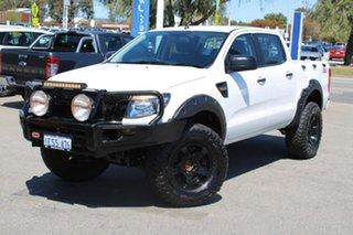 2015 Ford Ranger PX XL White 6 Speed Manual Utility.