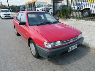 1992 Nissan Pulsar Red 5 Speed Manual Hatchback.